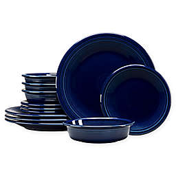 Fiesta® 12-Piece Classic Dinnerware Set in Cobalt Blue