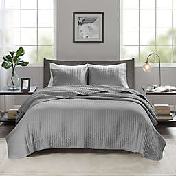 Madison Park Keaton 3-Piece Full/Queen Coverlet Set in Grey