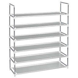 SALT 6-Tier Fabric Shoe Rack in Grey