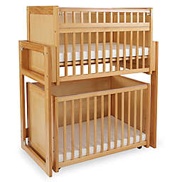 LA Baby® 3-Piece Space Saving Modular Crib System in Natural