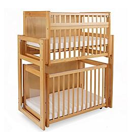LA Baby® 3-Piece Space Saving Modular Window Crib System in Natural
