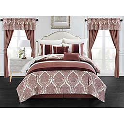 Chic Home Slade 20-Piece King Comforter Set in Brick