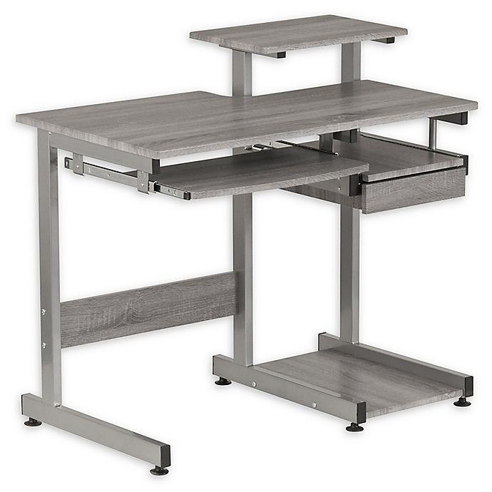 Alternate image 1 for Techni Mobili Complete Computer Workstation Desk in Grey