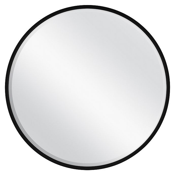 Alternate image 1 for 26-Inch Round Metal Wall Mirror in Black