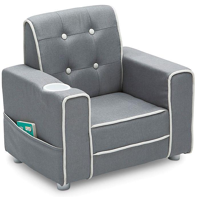 Alternate image 1 for Delta Children Chelsea Kids Upholstered Chair in Soft Grey