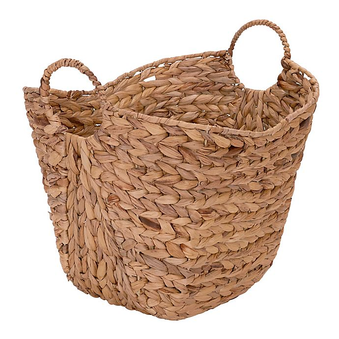 Alternate image 1 for Household Essentials® Water Hyacinth Wicker Basket with Handles
