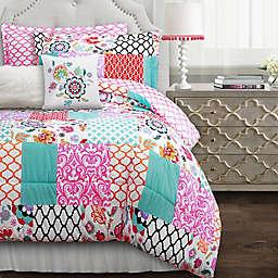 Lush Décor Brookdale 7-Piece Reversible Comforter Set