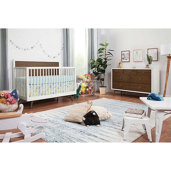 Alternate image 1 for Babyletto Palma Nursery Furniture Collection in White/Walnut
