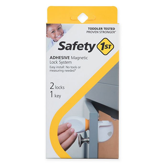 Alternate image 1 for Safety 1st® 2-Pack Adhesive Magnetic Locks with Key