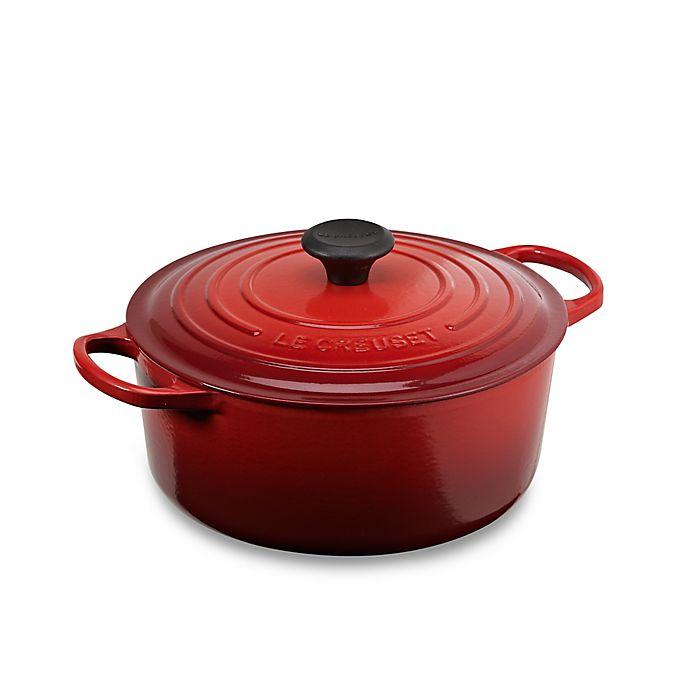 Alternate image 1 for Le Creuset® Signature 5.5 qt. Round Dutch Oven in Cerise