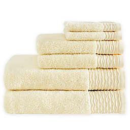 Madison Park Breeze 6-Piece Jacquard Bath Towel Set in Yellow