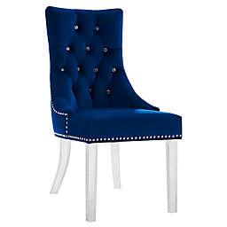 Armen Living® Velvet Upholstered Gobi Dining Chair
