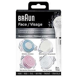 Braun® SE80-M 4-Pack Face Brush and Sponge Refills in White