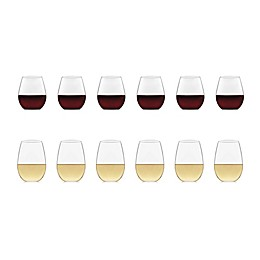 Libbey® Glass Signature Kentfield 12-Piece Stemless Wine Glass Set