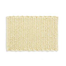 "Madison Park Lasso 24"" x 17"" Chain Bath Rug in Yellow"
