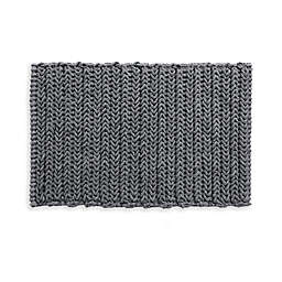 """Madison Park Lasso 30"""" x 20"""" Chain Bath Rug in Charcoal"""