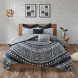 Urban Habitat Larisa Duvet Full/Queen Cover Set in Black