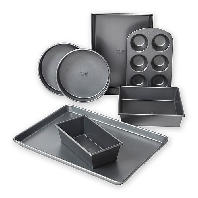 Alternate image 1 for Chicago Metallic™ Professional 7-Piece Bakeware Set with Armor-Glide Coating