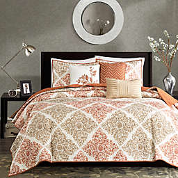 Madison Park Claire 6-Piece King/California King Coverlet Set in Spice