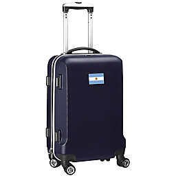 Denco Mojo Argentina Flag 21-Inch Hardside Spinner Carry-On Luggage in Navy