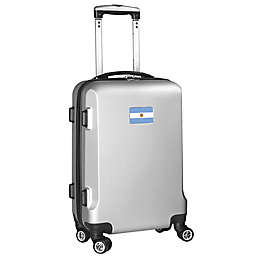 Denco Mojo Argentina Flag 21-Inch Hardside Spinner Carry-On Luggage in Silver