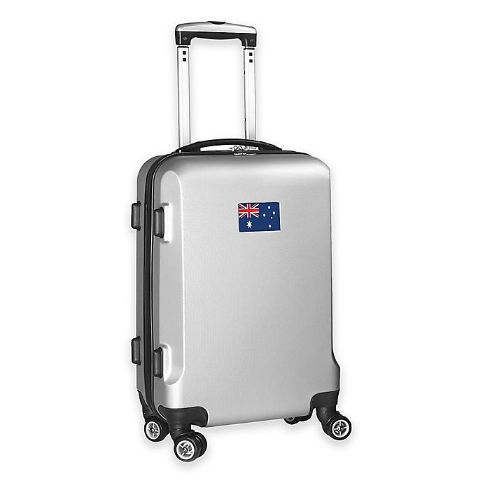 Alternate image 1 for Denco Mojo Australia Flag 21-Inch Hardside Spinner Carry-On Luggage in Silver