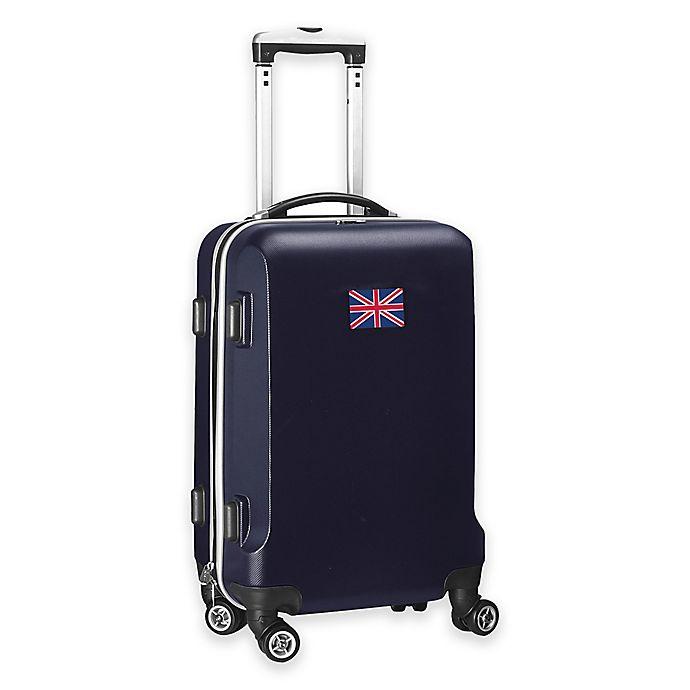 Alternate image 1 for Denco Mojo England Flag 21-Inch Hardside Spinner Carry-On Luggage in Navy