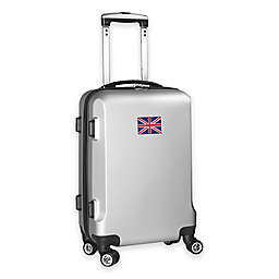 Denco Mojo England Flag 21-Inch Hardside Spinner Carry-On Luggage in Silver