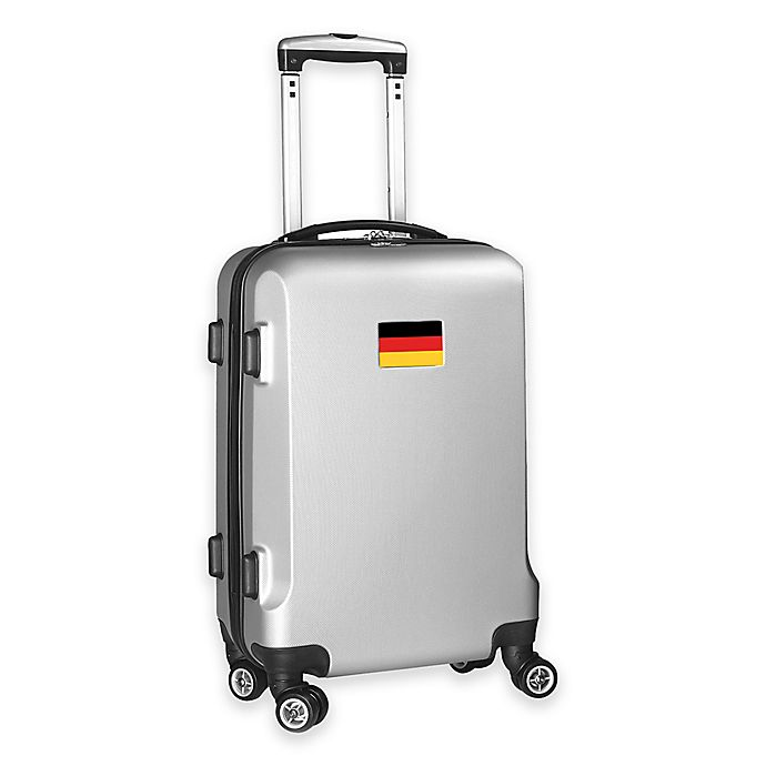 Alternate image 1 for Denco Mojo Germany Flag 21-Inch Hardside Spinner Carry-On Luggage in Silver