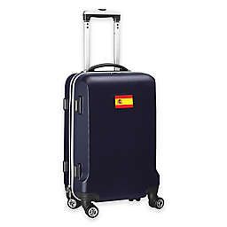 Denco Mojo Spain Flag 21-Inch Hardside Spinner Carry-On Luggage in Navy