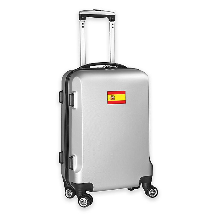 Alternate image 1 for Denco Mojo Spain Flag 21-Inch Hardside Spinner Carry-On Luggage in Silver