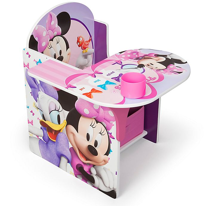 Alternate image 1 for Disney® Minnie Mouse Upholstered Chair with Desk and Storage Bin