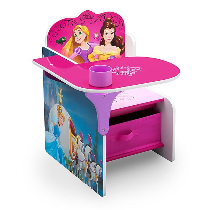 Alternate image 1 for Disney® Princess Chair Desk with Storage Bin
