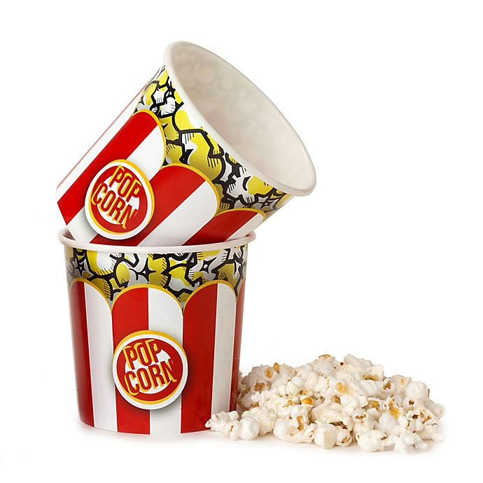 Alternate image 1 for Wabash Valley Farms Striped Popcorn Tubs in Red/White (Set of 2)