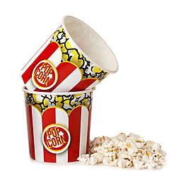 Wabash Valley Farms Striped Popcorn Tubs in Red/White (Set of 2)
