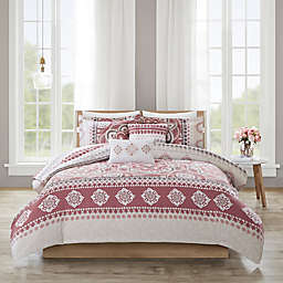 510 Designs Neda Reversible Full/Queen King Comforter Set in Rose