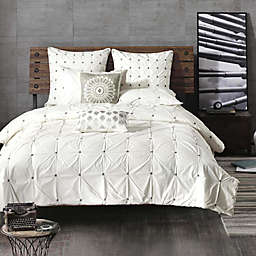 INK+IVY Masie 3-Piece Full/Queen Comforter Set in Creamy White