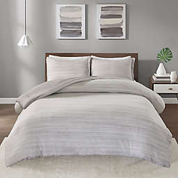 Urban Habitat Space Dyed Jersey Knit 2-Piece Twin/Twin XL Comforter Set in Grey