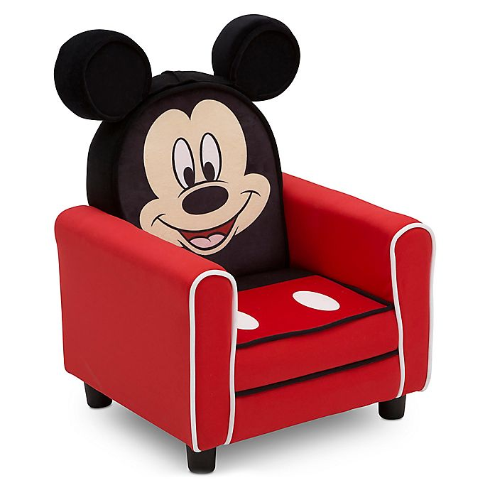 Alternate image 1 for Disney Mickey Mouse Figural Upholstered Kids Chair in Red/Black by Delta Children
