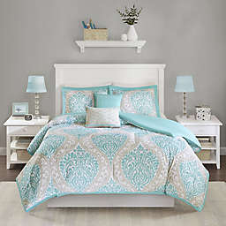 Intelligent Design Senna Twin/Twin XL Comforter Set in Aqua