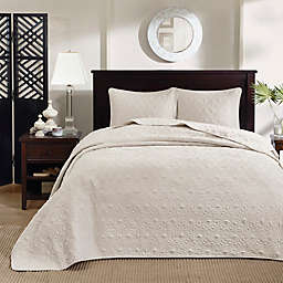 Madison Park Quebec 3-Piece Reversible Full Bedspread Set in Ivory