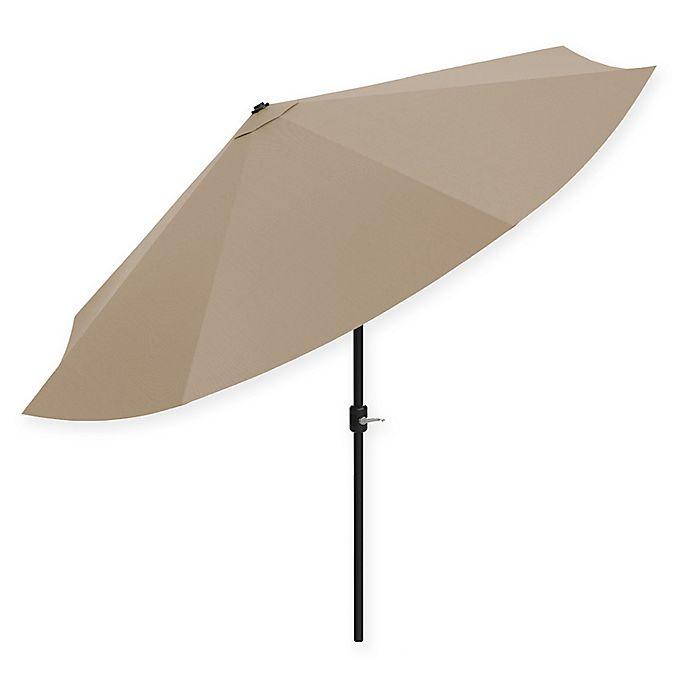 Alternate image 1 for Pure Garden 10-Foot Push Button Patio Market Umbrella