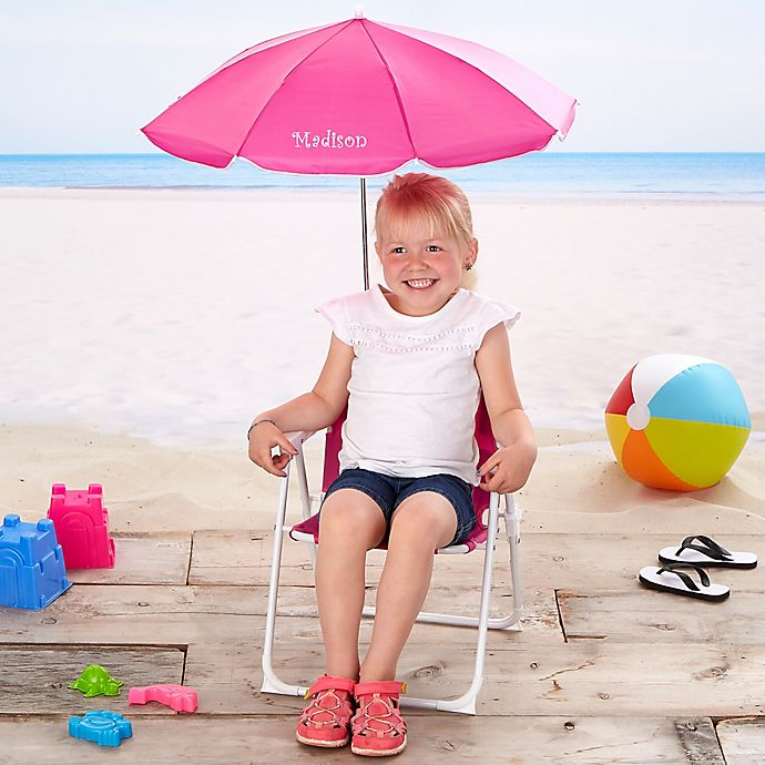 Alternate image 1 for Kid's Beach Chair & Personalized Umbrella Set