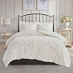 Madison Park Viola 3-Piece Full/Queen Coverlet Set in White