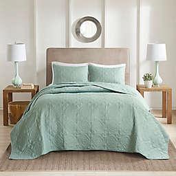 510 Design Oakley Full/Queen Bedspread Set in Seafoam