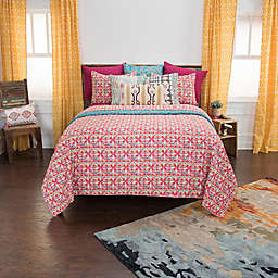 Rizzy Home Lilou Queen Quilt Set in Red