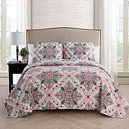 VCNY Home Wyndham Medallion Reversible 3-Piece Full/Queen Quilt Set