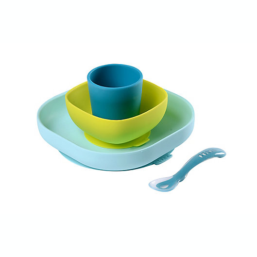 Alternate image 1 for BEABA® 4-Piece Silicone Suction Meal Set