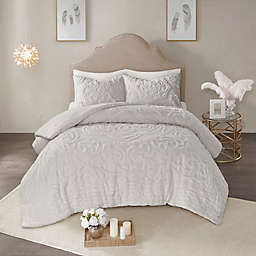 Madison Park Laetitia 3-Piece Queen Comforter Set in Grey