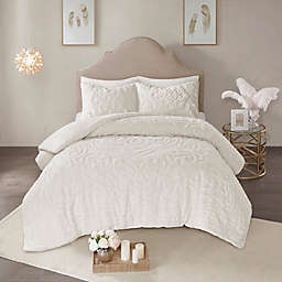 Madison Park Laetitia 3-Piece Full/Queen Duvet Cover Set in Ivory